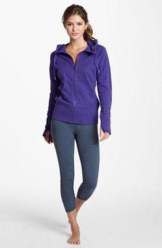 Gym ready: Zella Purple Hoodie & Live-In Legging Capris