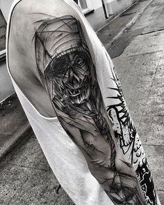 #scarecrow #dc #tattoo #black #blacktattoo #blacktattoomag #blacktattooart #darkartists #equilattera #inkstinctsubmission #blackwork #blackworkers #blackworkerssubmission