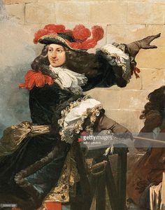 'The taking of Valenciennes by the King Louis XIV, on March 17, 1677' (detail). Oil on canvas by Jean Alaux, called le Romain (1786-1864). In 1837. Versailles, ch��teaux de Versailles et de Trianon.