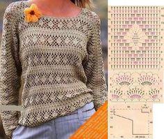 Crotchet Dress, Crochet Tunic, Freeform Crochet, Crochet Clothes, Knit Crochet, Crochet Chart, Crochet Stitches, Crochet Patterns, Crochet Woman