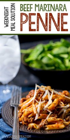 Weeknight Meal Solution: Beef Marinara Penne is a quick and easy way to get dinner on the table in 15 minutes. #AD - Eazy Peazy Mealz