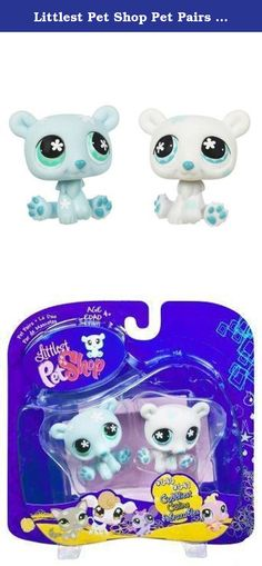 Littlest Pet Shop Pet Pairs Twin Polar Bears by Hasbro. #646 POLAR BEAR & #647 POLAR BEAR * CUDDLIEST PET PAIR * 2007 Littlest Pet Shop Figure 2-Pack. You've just welcomed some new friends into your very own Littlest Pet Shop where there are adventures around every corner...and lots of new pets to love! Includes: Special Edition pet & accessories. Originally released in 2008 - Retired / Out of production. Ages 4 and up. From Hasbro.