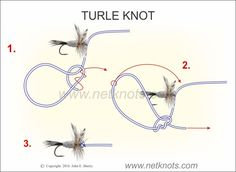 How to tie a Turle Knot expertly animated, illustrated and described Trout Fishing Tips, Fishing Rigs, Walleye Fishing, Sport Fishing, Carp Fishing, Women Fishing, Ice Fishing, Fishing Tackle, Pesca Spinning