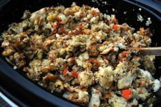 Traditional Bread Stuffing (Crock-Pot Method) | From Valerie's Kitchen