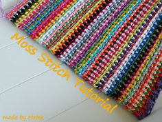The crochet version of the Gingerbread Mamas and Papas blanket: made by Mriek: Moss stitch tutorial