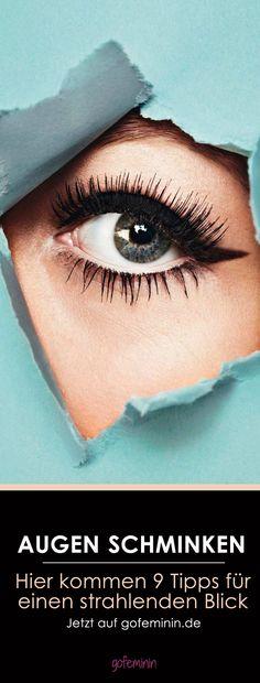 Augen schminken leicht gemacht: 9 Tipps & Tricks für einen strahlenden Blick! Jetzt auf gofeminin.de  #gofeminin #beauty #makeup #eyemakeup