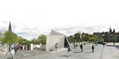 Konishi Gaffney Architects Unveils Their Winning Pavilion for the Pop-Up Cities Expo in Edinburgh,Exterior Perspective Views. Image Courtesy of Konishi Gaffney Architects