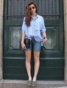 Miu Miu Glasses, Zara Shirt, Mango Bag, H Shorts, Espadrilles