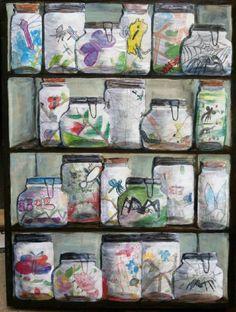 Trendy Collaborative Art Projects For Kids Clay 50 Ideas Collaborative Art Projects For Kids, Class Art Projects, Arte Elemental, Theme Harry Potter, 2nd Grade Art, Grade 1, Ecole Art, Insect Art, Middle School Art