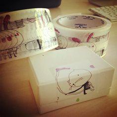 Illustrated adhesive washi tape by yaelfran on Etsy, $13.00