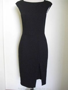 Veronika Maine Black Size 8 Sleeveless Dress Made In Australia New With Tags