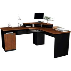 Home Office Furniture: Choosing The Right Computer Desk L Desk, Diy Computer Desk, Desk And Chair Set, Small Computer, Desk Space, Gaming Computer, Corner Workstation, Corner Desk, Home Office Furniture