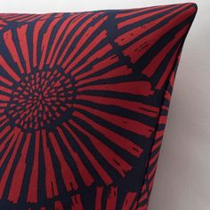 IKEA - STJÄRNTULPAN, Cushion cover, dark blue, red, Cotton is a soft and easy-care natural material that you can machine wash. The zipper makes the cover easy to remove. Red Pillows, Vintage Pillows, Kilim Pillows, Decorative Throw Pillows, Cushions, Cushion Covers, Pillow Covers, Patchwork Pillow, Geometric Pillow