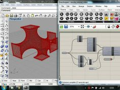 Kangaroo - Mesh Relaxation - Tutorial This tutorial takes you through a simple example of relaxing a mesh using Kangaroo. The example fil. Parametric Architecture, Parametric Design, Architecture Design, Parametrisches Design, Make Design, Rhino Tutorial, Cnc, Grasshopper Rhino, Space Frame