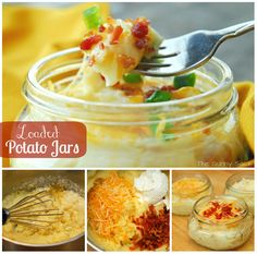 Make Loaded Potato Jars as a delicious side dish and Pumpkin Cobbler for dessert! These easy recipes are great for Thanksgiving!