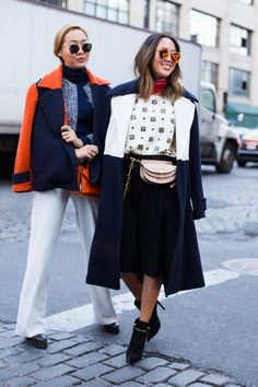 New York Street Style: The Best Fall 2016 Looks to Copy Now | round glasses StyleCaster