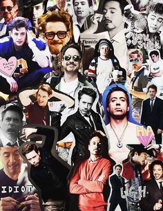 robert downey jr collage - Buscar con Google