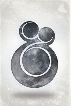 Ampersand / moon / font
