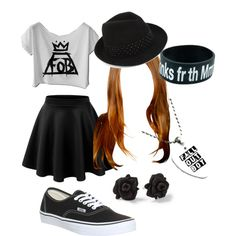 Fall Out Boy by weareinfinite3 on Polyvore featuring polyvore, fashion, style, Vans, BCBGMAXAZRIA and Marc by Marc Jacobs