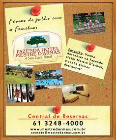 Banner promocional para hotel fazenda