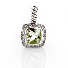 David Yurman Albion Pendant with Prasolite and Diamonds in 925 Sterling Silver  #DavidYurman #Pendant