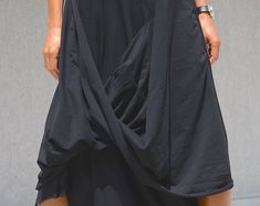 Flowy Maxi Skirt with Pocket, Evening Bridesmaid Skirt, High Waisted Skirt, High Fashion Skirt, Floor Length Skirt Cotton Skirt Large Skirt Long Tunic Dress, Cowl Neck Dress, Goth Skirt, Gypsy Skirt, Day Dresses, Short Dresses, Summer Dresses, Maternity Romper, Summer Maternity