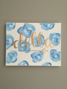 Tri delta blue flower print www.dashofserendipity.com