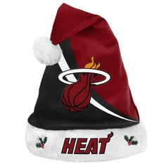 NBA Swoop Logo Santa Hat Miami Heat