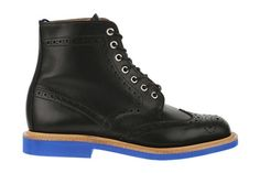 boots with blue soles