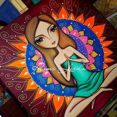 """""""Alma - cuerpo y mente"""" fue una obra realizada especialmente para Lorena.  . . . . .⭐ROMI LERDA - espacio de arte⭐ 473 bis n° 246 Loc. 2 City Bell . ✔Envíos a todo el país.  Consultas por mensaje privado o a rominaler@gmail.com #romilerdaespaciodearte #romilerdart #arte #mujeresdelmundo #om #mujeres #love #amoralarte #decoraxion #deco #home #mujeredelzodiaco #colorterapia #namaste #woman #arte #buenosaires #argentina #españa #italia #méxico #colombia #citybell #laplata"""