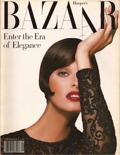 Harper's Bazaar, 1992 Linda Evangelista Patrick Demarchelier Once more, the archives are tapped into with this photograph reminiscent of the May 1959 cover of Carmen Dell'Orfice photographed by Derujinsky