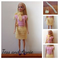 Tess and Annie: Free Crochet Pattern - Spring Barbie Outfit