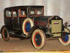 RARE Antique Original Vtg Large German Distler Limousine Tin Toy Car w Sidewheel | eBay