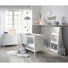 nursery Wooden shelf unit in white W