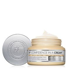 Discover the anti-aging prestige moisturizer inside America*! Developed with plastic surgeons, Confidence in an Ointment Hydrating Moisturizer delivers several anti-aging skincare benefits inside one cream, including reducing the look of fine lines, visibly minimizing skin pores, and brightening the search of skin. Perfect with regard to all skin types, especially dry skin, this quick-absorbing super cream helps strengthen the skin barrier while providing 24 hours associated with hydration… Anti Aging Facial, Anti Aging Skin Care, Super Cream, Confidence In A Cream, Coco Nucifera, Turmeric Root Extract, Creme Anti Age, Skin Elasticity, Make Up
