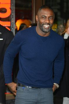 Latest Idris Elba News and Archives - Nickolaus Drains Gorgeous Black Men, Handsome Black Men, Beautiful Men, Beautiful People, Black Man, Idris Elba, Grey Outfit, Sexy Men