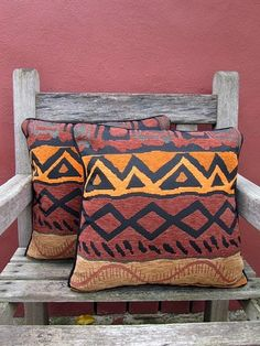 I'm obsessed with these pillows. The shape, the pattern, the color scheme, everything.