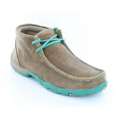 Twisted X Ladies Brown/turquoise Driving Mocs Cowgirl Outfits, Cowgirl Boots, Cowgirl Tuff, Cowgirl Style, Western Style, Sock Shoes, Shoe Boots, Women's Shoes, Western Shoes