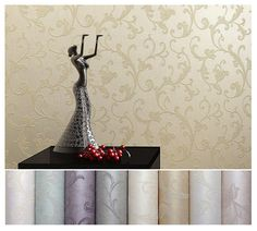Victorian Damask Modern Wallpaper Wall Paper Roll Living room Bedroom background