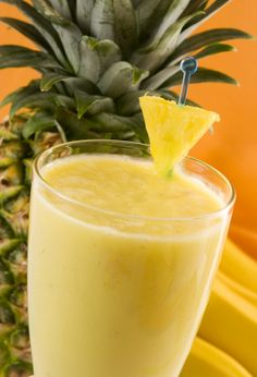 Healthy Drinks - TROPICAL CLEANSE   1 cup frozen or fresh pineapple   1 small to medium banana (ripe and peeled)   1 inch piece of ginger  2 handfuls of spinach   1 cup water or coconut water (unpasteurized)