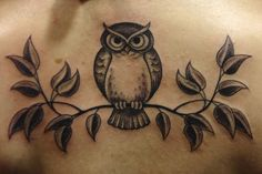 Owl Tattoos For Girls | owl on a branch by *JVorndran on deviantART