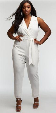 f87fe4d3da Plus Size Tuxedo Jumpsuit - Plus Size Party Dress - Plus Size Fashion for  Women