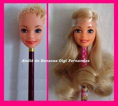 Reroot & Repaint Barbie Estrela 80's