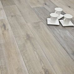 190mm White Smoked Brushed and Oiled Engineered European Oak Wood Flooring 15/4mm Thick