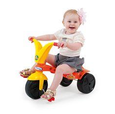 0778.7 - Triciclo Girafito | Super resitente, fabricado em plástico injetado, vêm com adesivos para a criançada decorar seu triciclo como quiser. | Faixa Etária: +2 anos | Medidas: 57,5 cm | Triciclos | Xalingo Brinquedos | Crianças