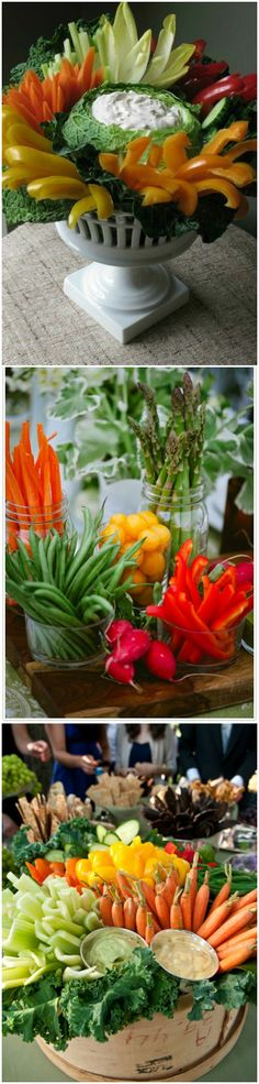 Party ● Vegetable Serving Displays