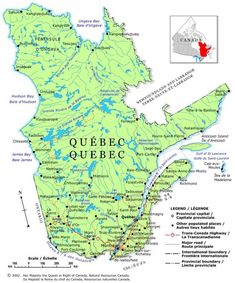 Canada Maps: Map of Quebec Province Backpacking Canada, Canada Travel, Calgary, Vancouver, Voyage Canada, Toronto, Discover Canada, Canada Holiday, Quebec City
