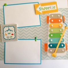 BABY BOY premade 12x12 scrapbook page layout by lovethatscrap, $8.00