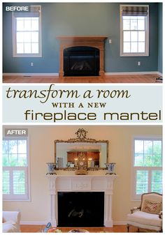 Looking to make a huge impact on a room? To really change the character of a room, transforming a focal point like a fireplace mantel can make it seem like you're in a completely different home | Designthusiasm.com #homedecor #frenchcountry