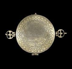 A Safavid engraved silver-gilt bazuband Amulet Case  Persia, 17th Century